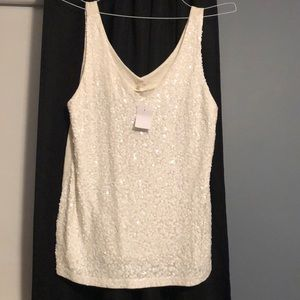 L Sequined blouse JCrew NWT